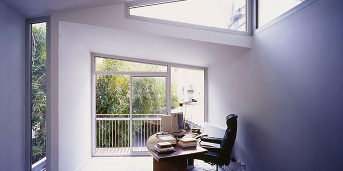 bureau lumineux fenetres architecte