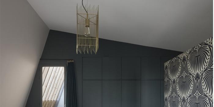 chambre lustre maison architecte