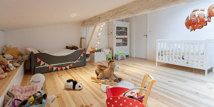 chambre enfant combles renovation