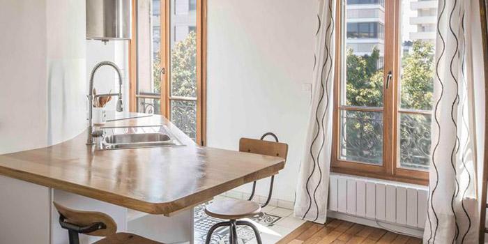 cuisine lumineux renovation architecte