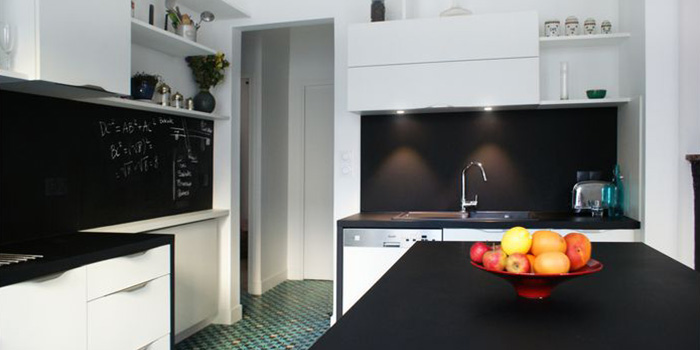 cuisine moderne renovation appartement