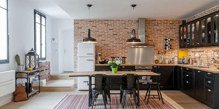renovation cuisine briques architecte