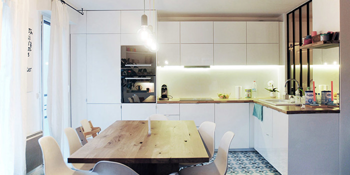 cuisine table a manger architecte