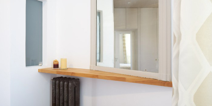 miroir etagere bois renovation