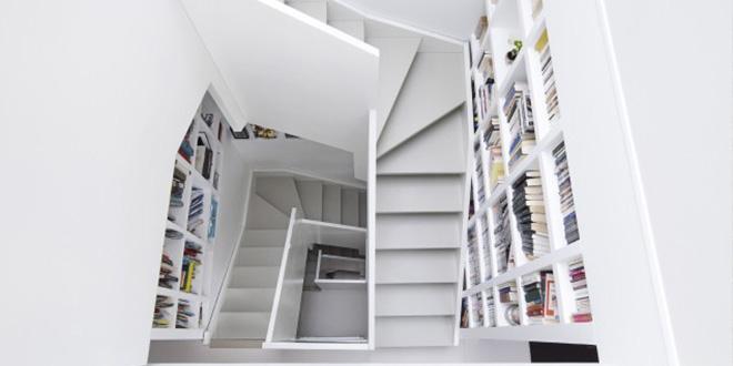 escalier surélévation maison architecte