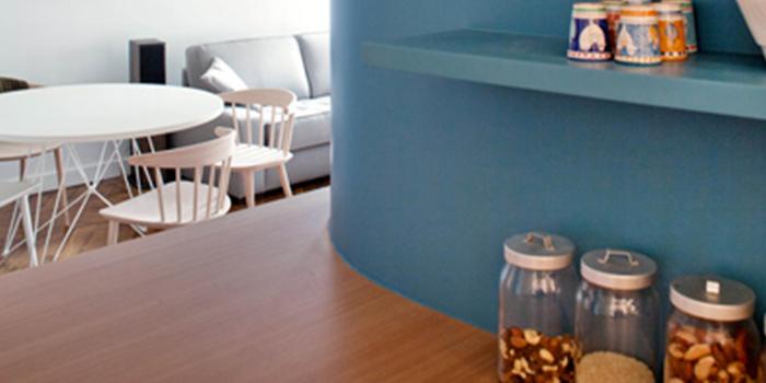 etagere bleu cuisine renovation