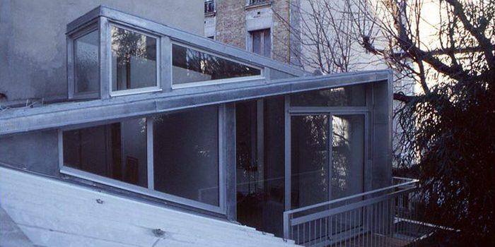 surélévation maison verre fenetres architecture