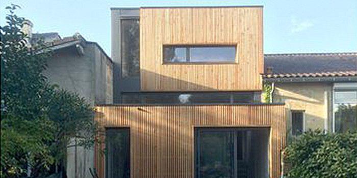 surélévation contemporaine echoppe architecture