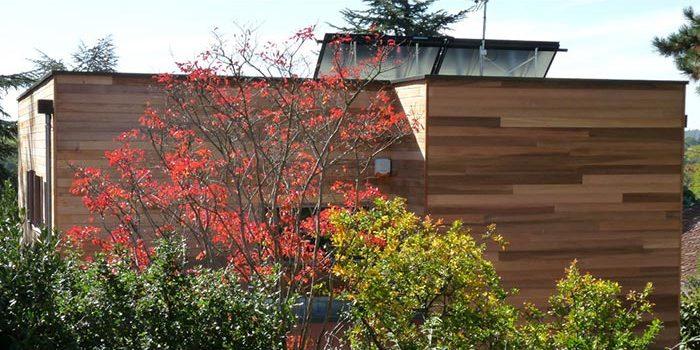 jardin bois maison moderne architecture