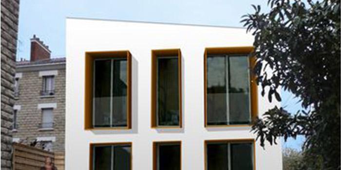 façade surélévation moderne architecte