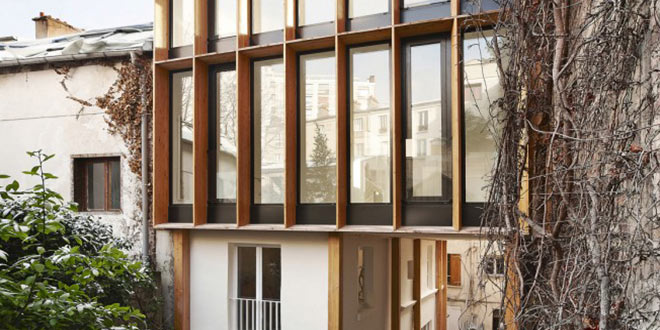 surélévation bois maison héliotrope architecte