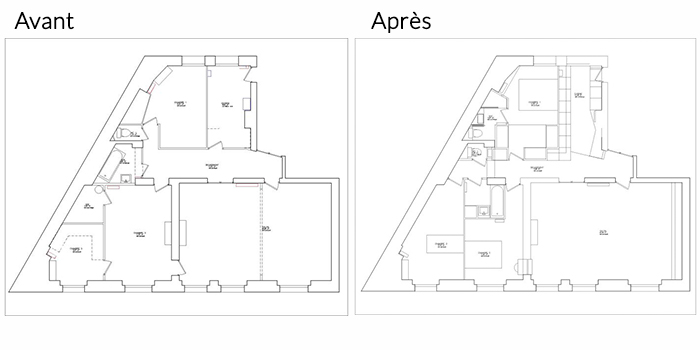 plan avant apres renovation