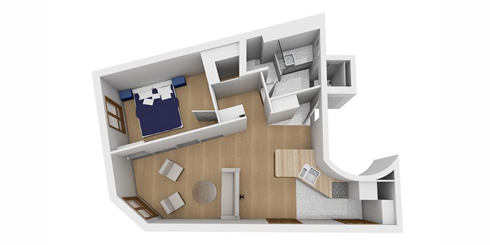 plan 3D renovation appartement