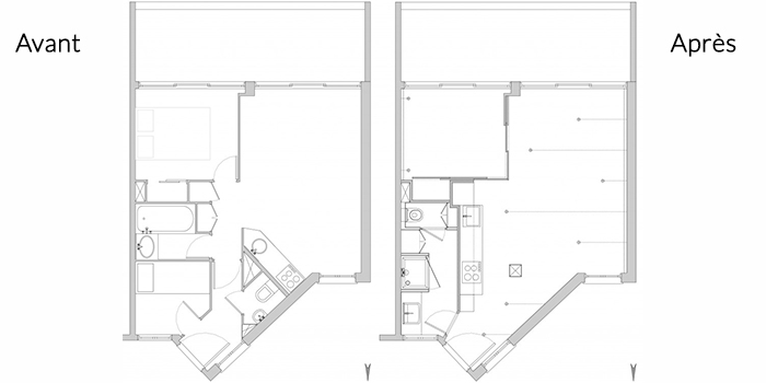 plan appartement renovation architecte