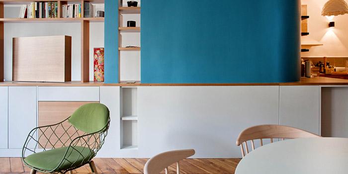 salle a manger bleu renovation