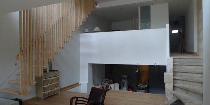 salon escalier echoppe architecture