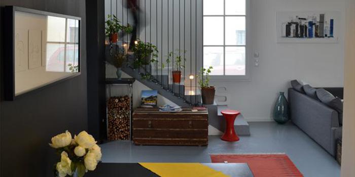 salon escalier echoppe architecte