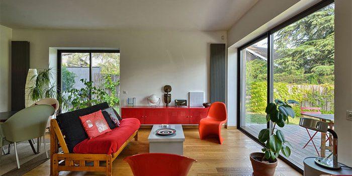 salon lumineux moderne architecture
