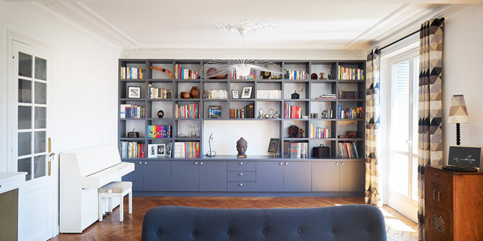 bibliotheque renovation architecture appartement