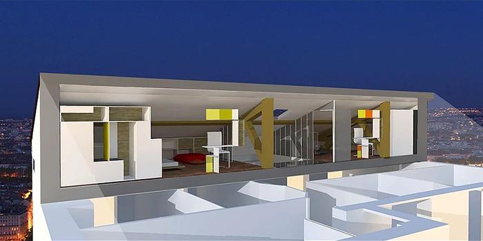 3D renovation duplex architecte