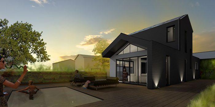 facade 3D maison architecte