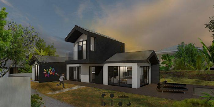 plan 3D facade maison