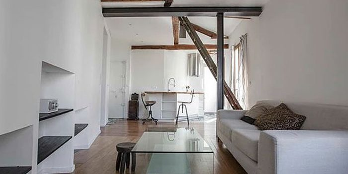 sejour poutre appartement paris