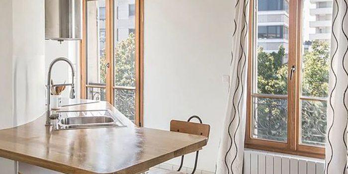 cuisine ouverte appartement architecte