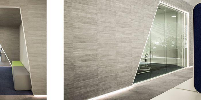 bureaux gris moderne architecte