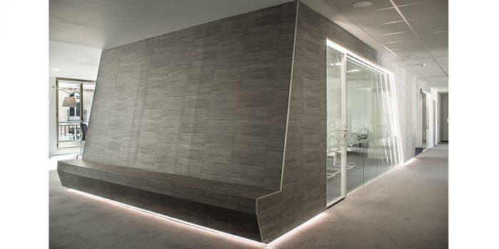 bureaux gris contemporain architecte