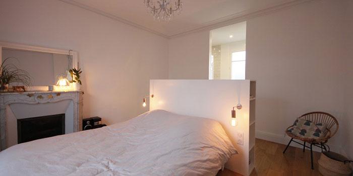 chambre lit renovation maison