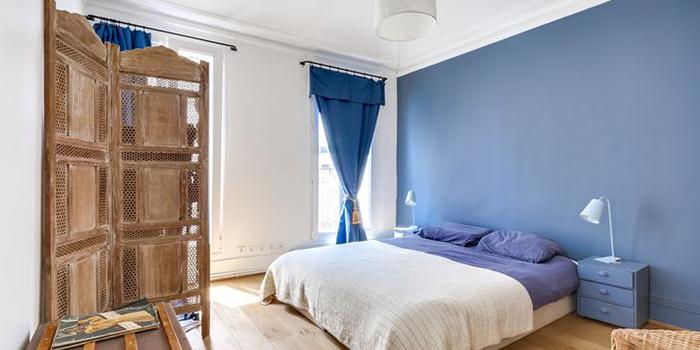 chambre bleu duplex architecte