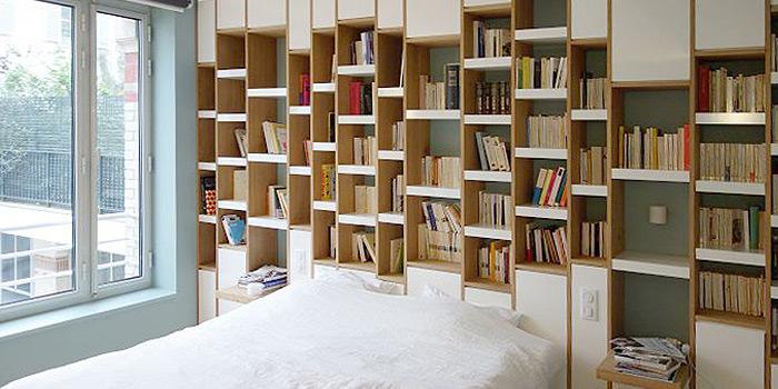 chambre bibliotheque duplex architecture