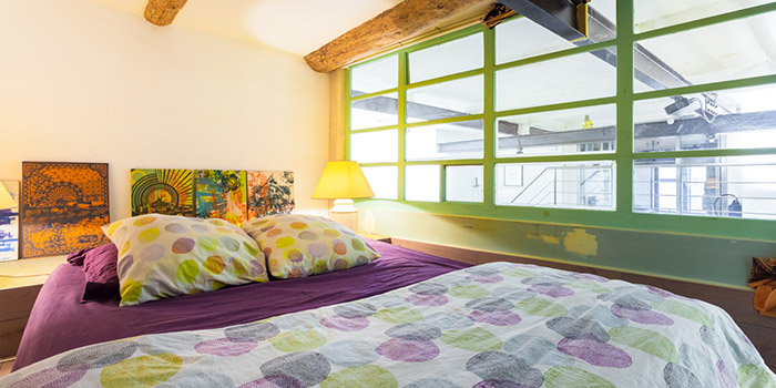 chambre mezzanine loft renovation