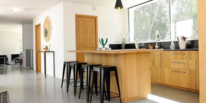 cuisine bois maison architecte