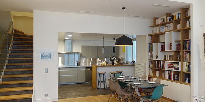 cuisine ouverte duplex architecte