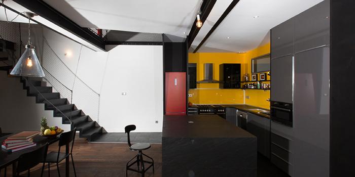 cuisine ouverte renovation loft