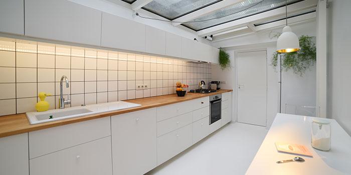 cuisine blanche renovation maison