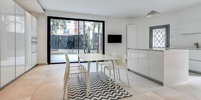 cuisine blanc laqué renovation