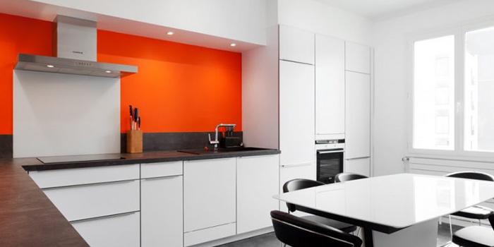 cuisine orange duplex architecture