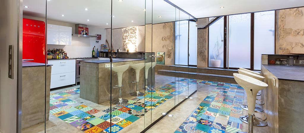 miroir lumiere cuisine architecte