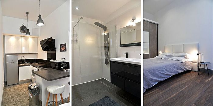 cuisine chambre appartement architecture