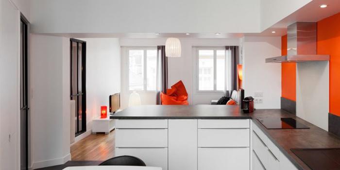 cuisine ouverte renovation duplex