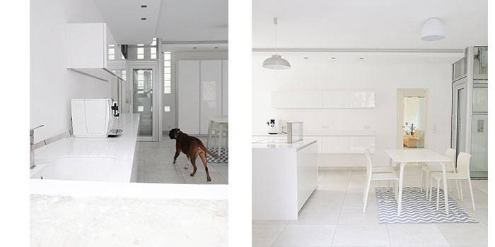 cuisine blanc renovation architecte