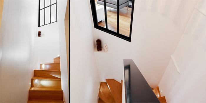 escalier renovation duplex architecture