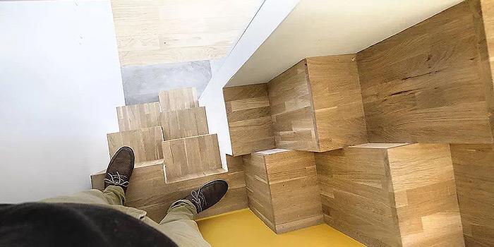 escalier bois duplex architecte