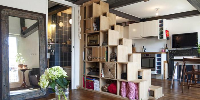 escalier rangement duplex architecture