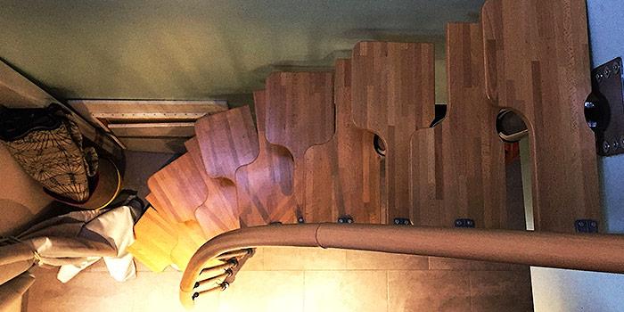 escalier bois original architecte