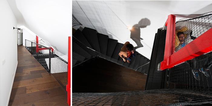 escalier noir transformation maison