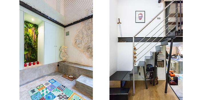 escalier verre renovation loft